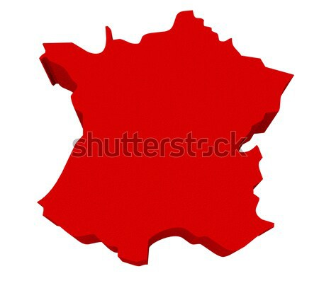Germany Red 3d Europe Map Isolated Stock photo © iqoncept
