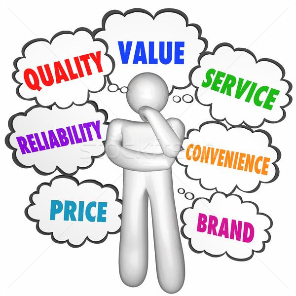 Kwaliteit waarde dienst best product bedrijf Stockfoto © iqoncept