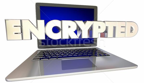 Kódolt biztonság online digitális akták 3d illusztráció Stock fotó © iqoncept