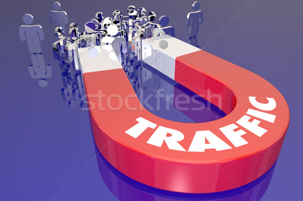 Traffic Magnet Attract Audience Viewers Customers 3d Illustratio Stock photo © iqoncept