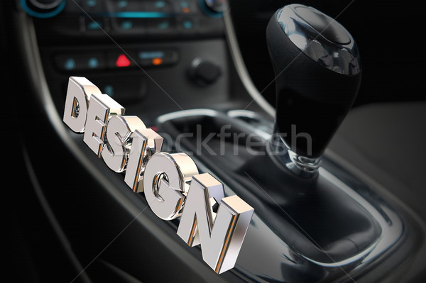 Design Car Interior Gear Shifter Drive Style 3d Illustration Stock photo © iqoncept