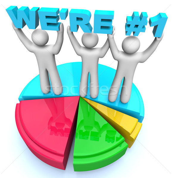We're Number One - Market Share Pie Chart Stock photo © iqoncept