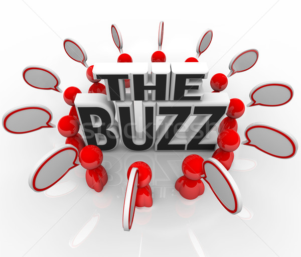 The Buzz People Talking in Speech Bubbles Latest News Stock photo © iqoncept
