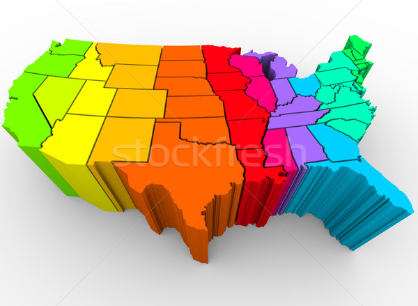 United States Rainbow of Colors - Cultural Diversity Stock photo © iqoncept