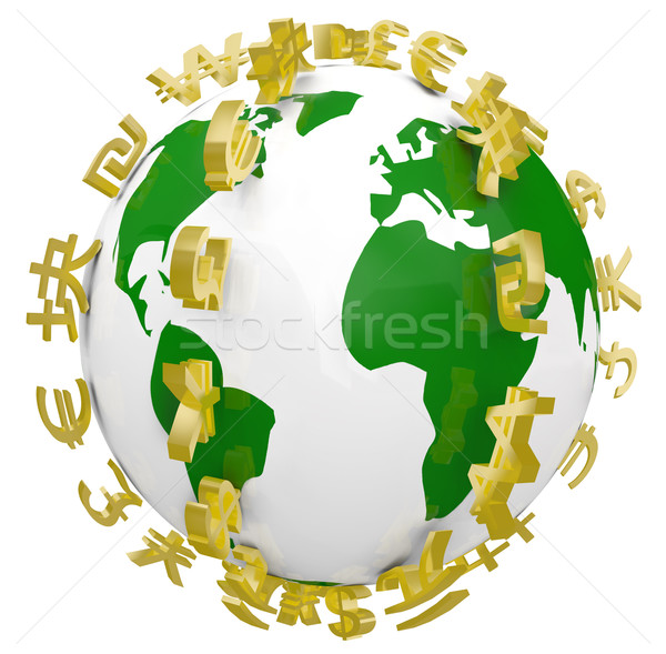 Global World Currency Symbols Around World Stock photo © iqoncept