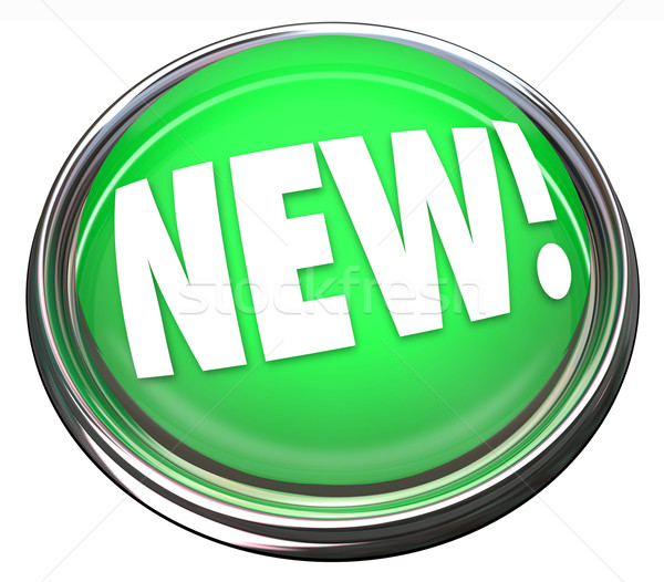 New Button Flashing Light Newest Product News Update Stock photo © iqoncept