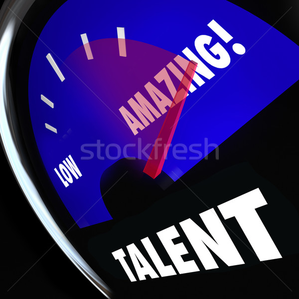 Talent Measurement Gauge Rating Level Skills Better High Feedbac Stock photo © iqoncept