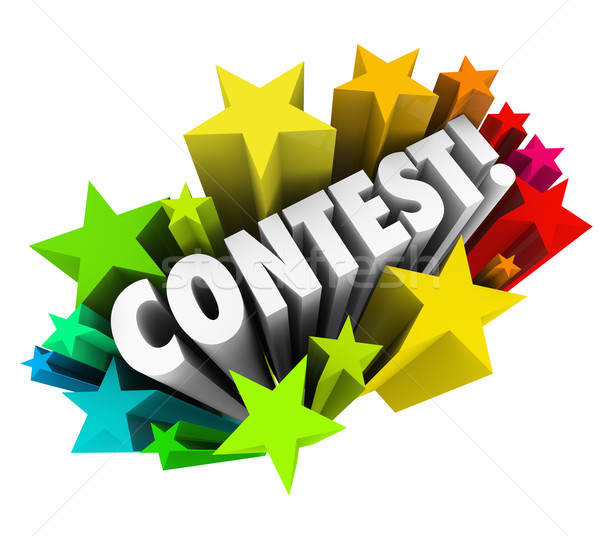 Contest Word Stars Fireworks Exciting Raffle Drawing News Stock photo © iqoncept