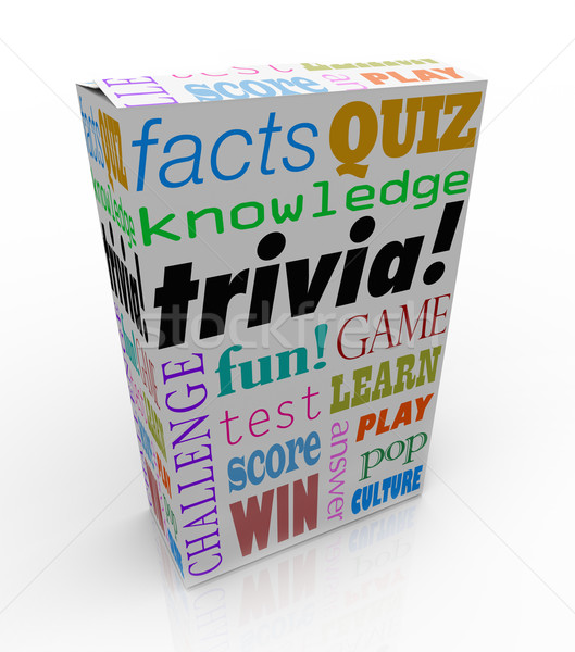 Trivia Game Box Package Fun Questions Answers Knowledge Quiz Stock photo © iqoncept