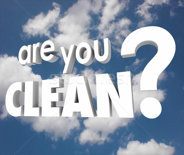 Tiszta kérdés szavak felhős égbolt merő Stock fotó © iqoncept