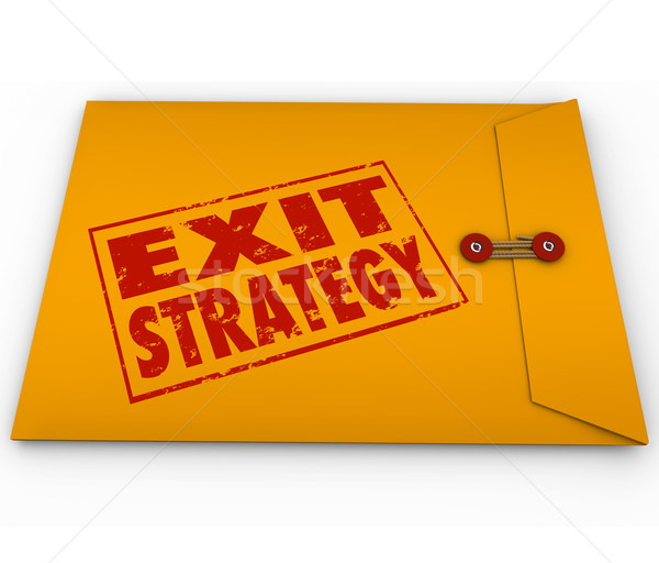 Exit Strategy Words Stamped Yellow Envelope Plan Stock photo © iqoncept