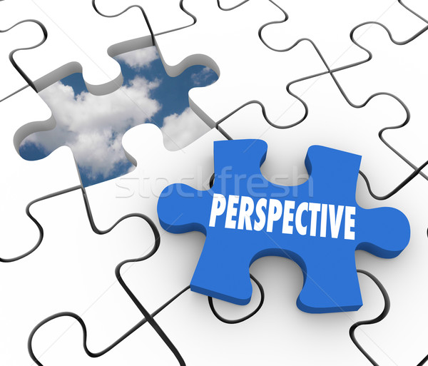 Perspective Puzzle Piece Vision Successful Plan Solution Stock photo © iqoncept