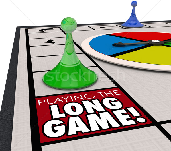 Playing the Long Game Moving Forward Patience Returns Later Inve Stock photo © iqoncept