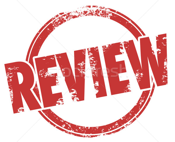 Review Stamp Word Circle Product Evaluation Rating Criticism Stock photo © iqoncept