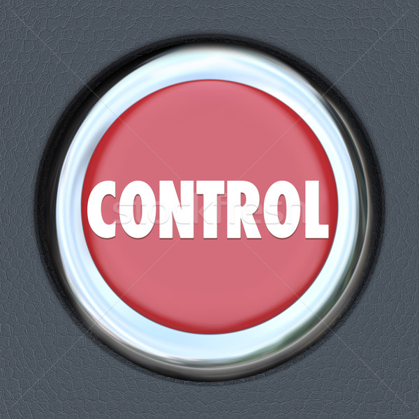 Control Red Car Start Button Leader Manager Supervisor Oversight Stock photo © iqoncept