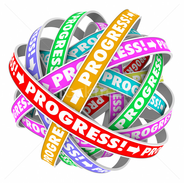 Progress Endless Cycle Continuous Improvement Forward Movement Stock photo © iqoncept