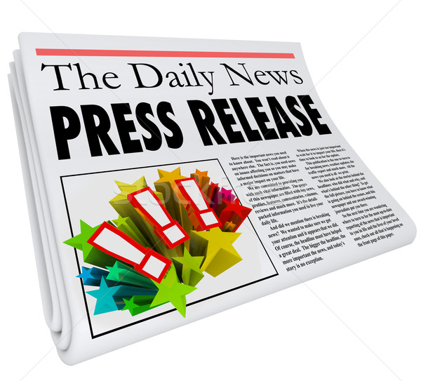 Press Release Newspaper Headline Announcement Alert Stock photo © iqoncept