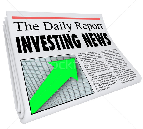 Inversión noticias titular papel diario dinero Foto stock © iqoncept