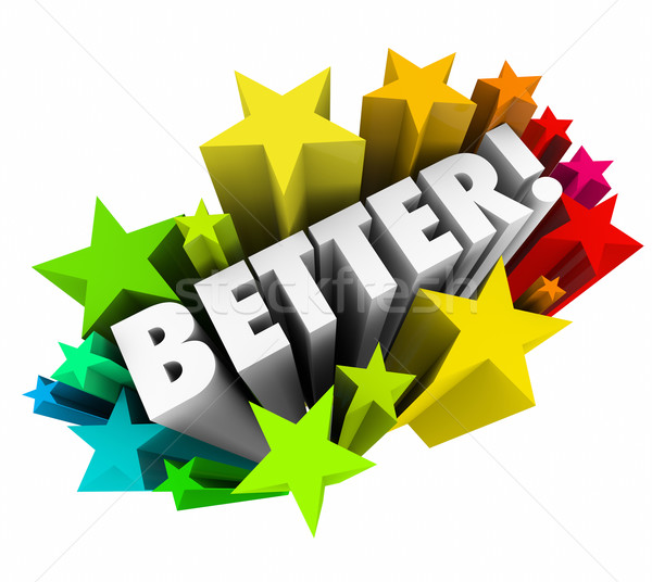 Better Stars Improved Enhanced More Results Best Level Service Stock photo © iqoncept