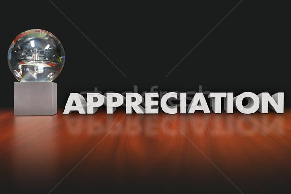 Anerkennung Wort Vergabe Trophäe Preis Mitarbeiter Stock foto © iqoncept