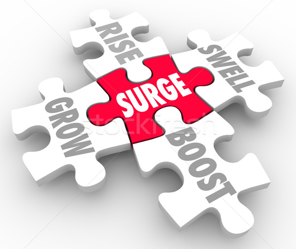 Surge Puzzle Pieces Rise Grow Boost Swell Stock photo © iqoncept