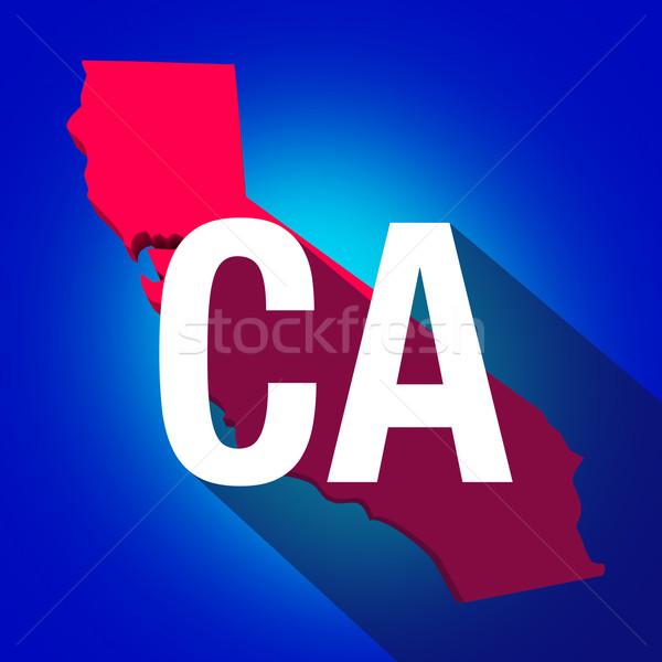 California cartas abreviatura rojo 3D mapa Foto stock © iqoncept