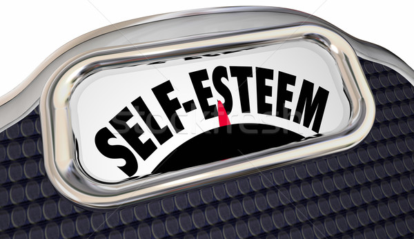 Self Esteem Confidence Assured Attitude Scale Words Stock photo © iqoncept
