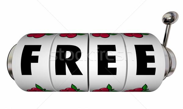 Szabad játékautomata kerekek különleges vásár ajánlat Stock fotó © iqoncept