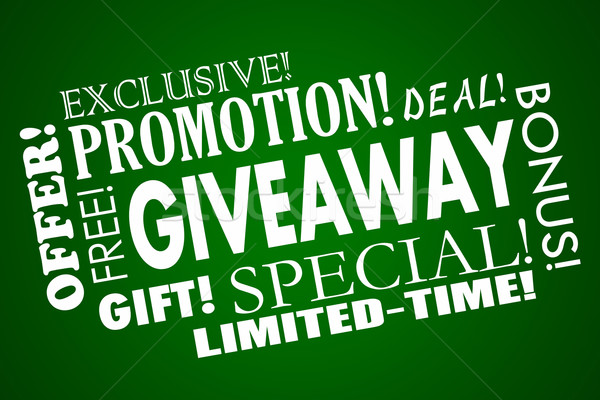 Giveaway Free Promotion Special Offer Limited Time Deal Word Col Stock photo © iqoncept