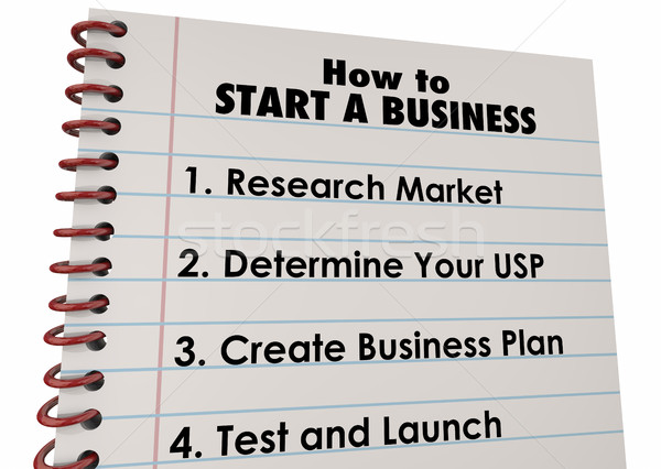 How to Start Business Company Launch List 3d Illustration Stock photo © iqoncept