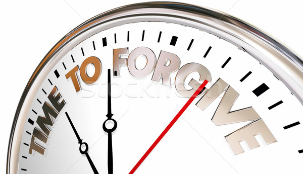 Time to Forgive Clock Forget Absolve Reconcile Sorry 3d Illustra Stock photo © iqoncept