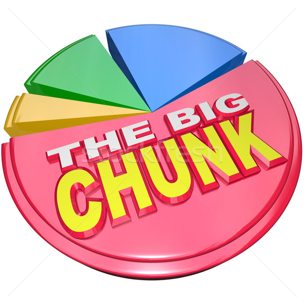 The Big Chunk - Largest Portion of Pie Chart Share Stock photo © iqoncept