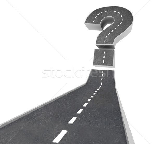 Question Mark on Road - Uncertainty Stock photo © iqoncept