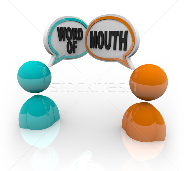 Word of Mouth - Two People Speaking Stock photo © iqoncept
