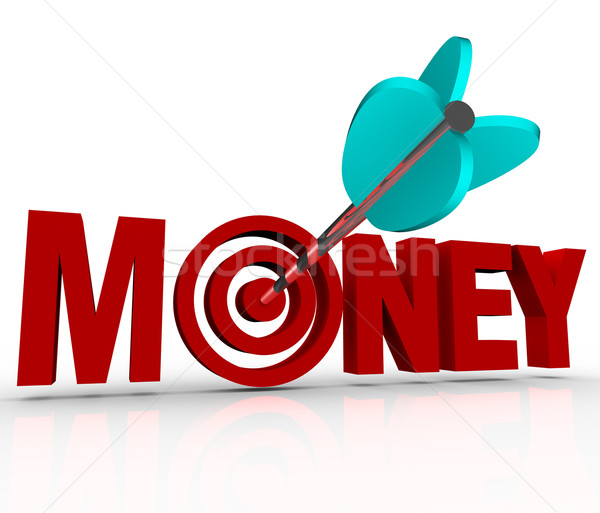 Money Arrow in Target Bulls-Eye Earn Riches Reach Goal Stock photo © iqoncept