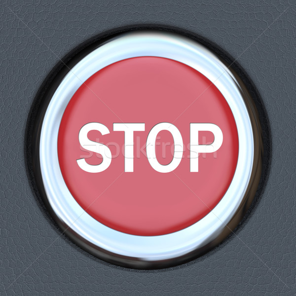 Stop Word Red Car Push Button Starter Stock photo © iqoncept
