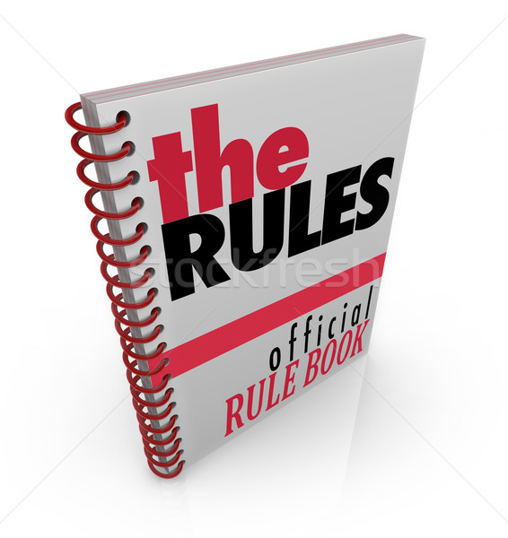 Stock photo: The Rules Book Official Rule Manual Directions
