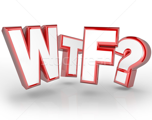 WTF Letters Abbreviation Shocking Surprise Expression Stock photo © iqoncept