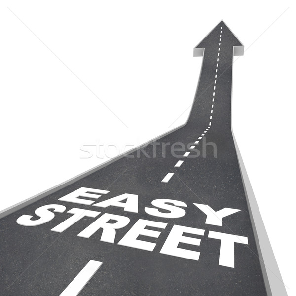 Easy Street Luxurious Wealthy Living Carefree Riches Road Stock photo © iqoncept