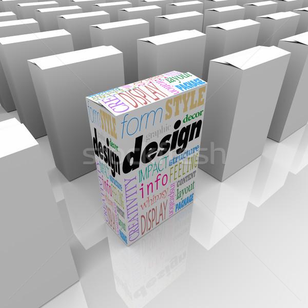 Groot grafisch ontwerp een uniek product vak Stockfoto © iqoncept