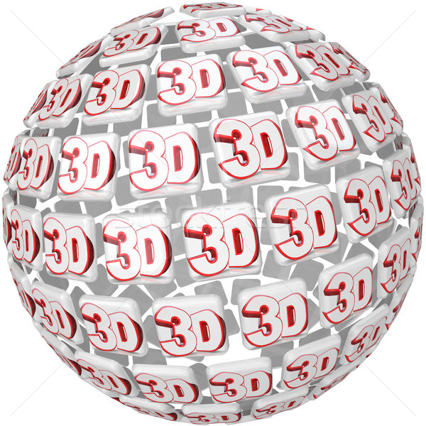 3D Word on Ball Sphere Three Dimensional Effect Stock photo © iqoncept