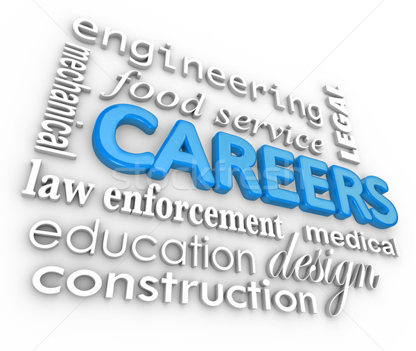 Careers Word Background Jobs 3d Choose Profession Stock photo © iqoncept