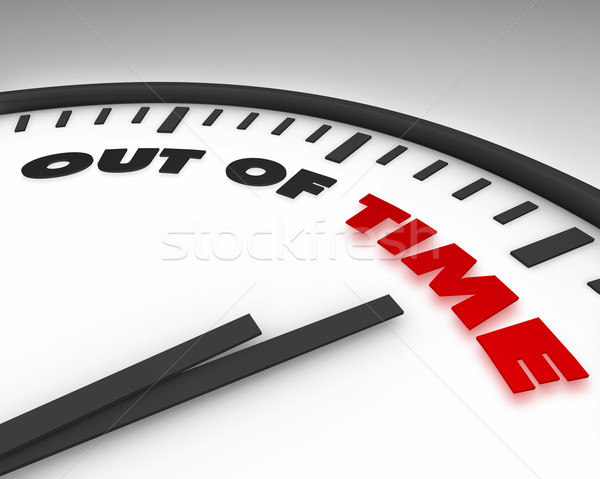 Out of Time - Clock Stock photo © iqoncept