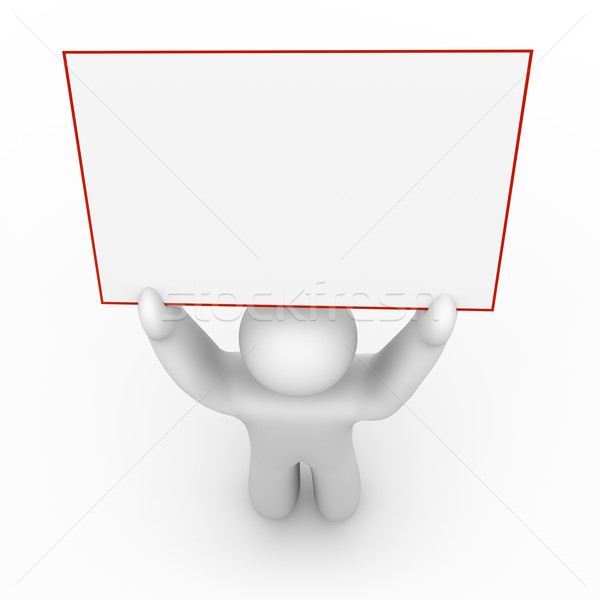 Person Holding a Blank Sign - 1 Stock photo © iqoncept
