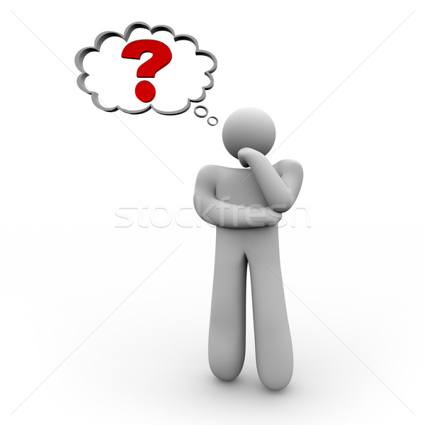 Person Pondering a Question Stock photo © iqoncept