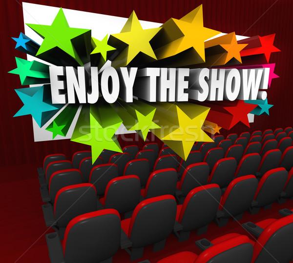 Enjoy the Show Movie Theater Screen Entertainment Fun Stock photo © iqoncept