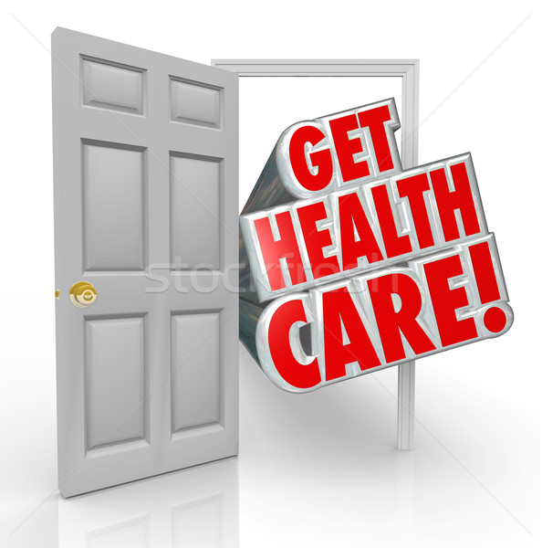 Get Health Care Insurance Coverage Open Door Stock photo © iqoncept