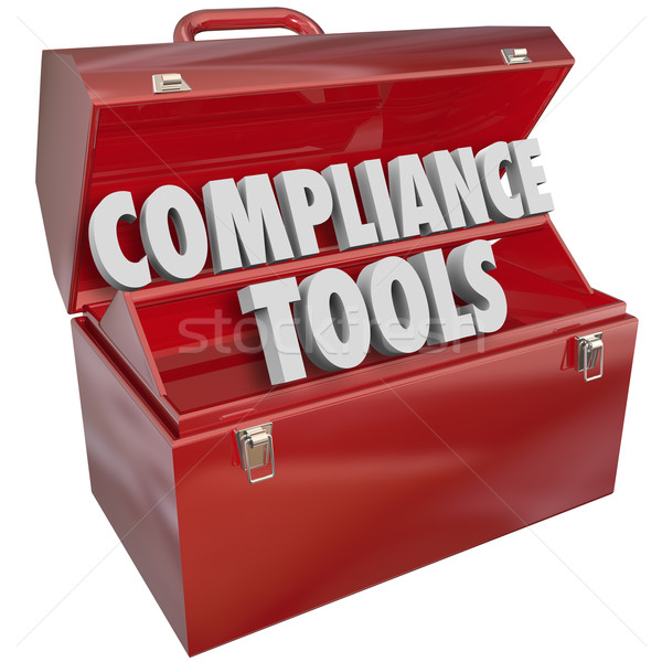 Stock photo: Compliance Tools Toolbox Skills Knowledge Following Rules Laws