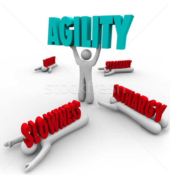 Agility Person Lifting Word Survival Fast Action Stock photo © iqoncept
