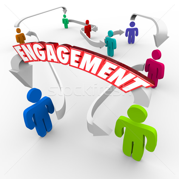 Customer Audience Engagement People Connected Arrows Stock photo © iqoncept